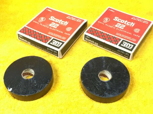 ***NEW--OLD STOCK*** LOT OF ROLLS 3M SCOTCH 22 VINYL PLASTIC ELECTRICAL TAPE 2