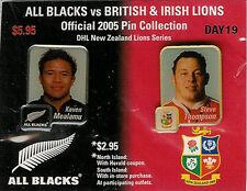 Kevin Mealamu & Steve Thompson British Lions 2005 Rugby Enamel Pin Badges BNIP