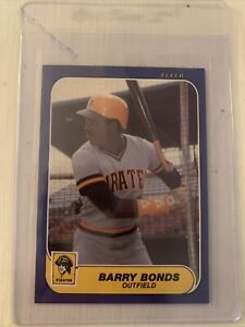 1986 Fleer Update Barry Bonds U-14 Rookie Card RC