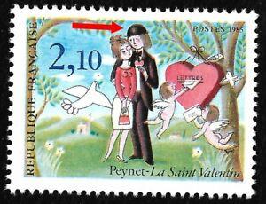 Timbres-France-Neufs-1985-Variete-N-2356a-034-Chapeau-Double-034-Peynet-Cote-50