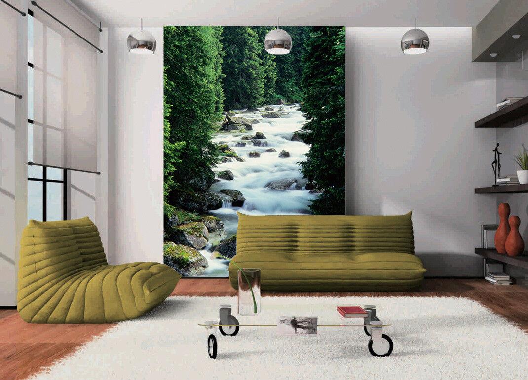 3D Forest Creek 807 Wallpaper Mural Wall Print Wall Wallpaper Murals US Lemon