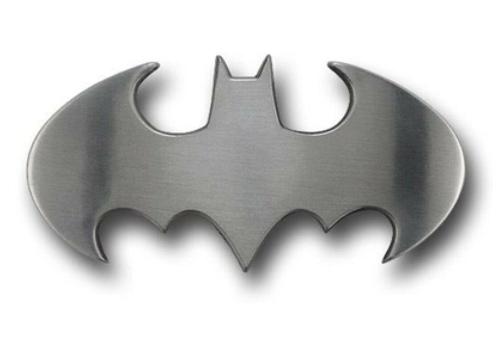 Batman Gürtelschnalle Halloween Kostüm Gestanzte Silber Chrom Original Comic Men