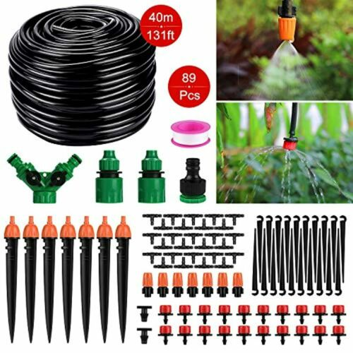 """Tencoz Garten BewässerungsSystem 40m DIY Micro Drip Bewässerung Kit 1//4/"""" Schl"""