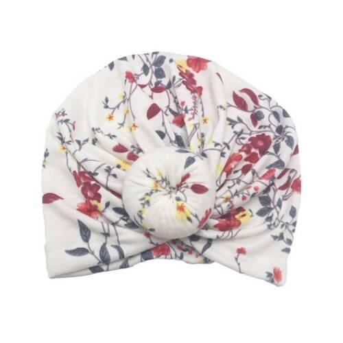Baby Children Infant Floral Knot Turban Cap Head Wrap Beanie Hair Band Headband