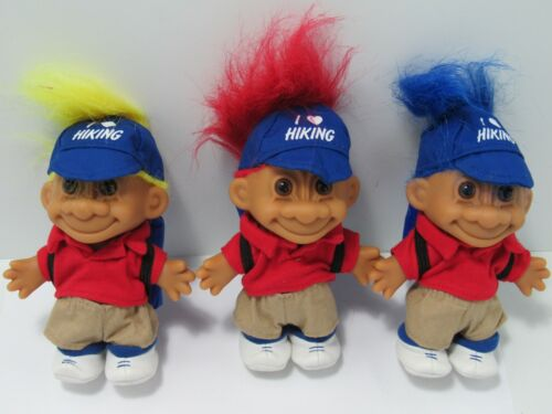 "I LOVE HIKING 5/"" Russ Troll Doll  NEW IN ORIGINAL WRAPPER  Rare 1 Per"
