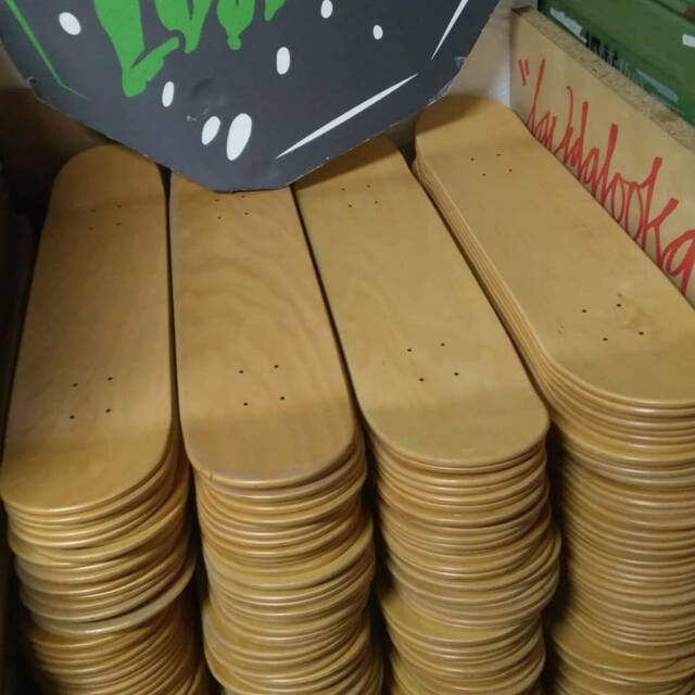 3 x BLANK NATURAL Skateboard Deck 7,5