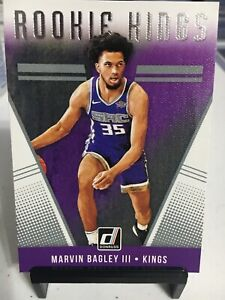 MARVIN BAGLEY III 2018 Panini Donruss #4 ROOKIE KINGS Sacramento SP Rookie.