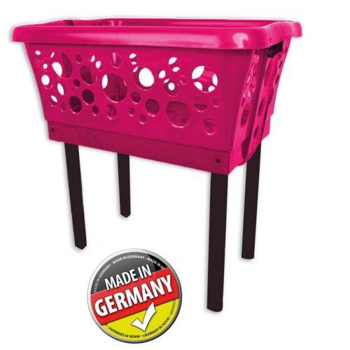 Wäschesammler Wäschewagen Wäschekorb Wäschesortierer Wäschebox mit Beinen Rot