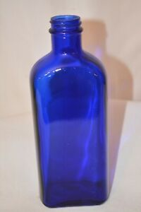 Hazel-Atlas-Glass-Vintage-Medicine-Bottle-Cobalt-Blue-Antique