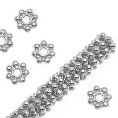 BeadaholiqueCA Antiqued Bali Daisy Spacers 4mm Sterling Silver