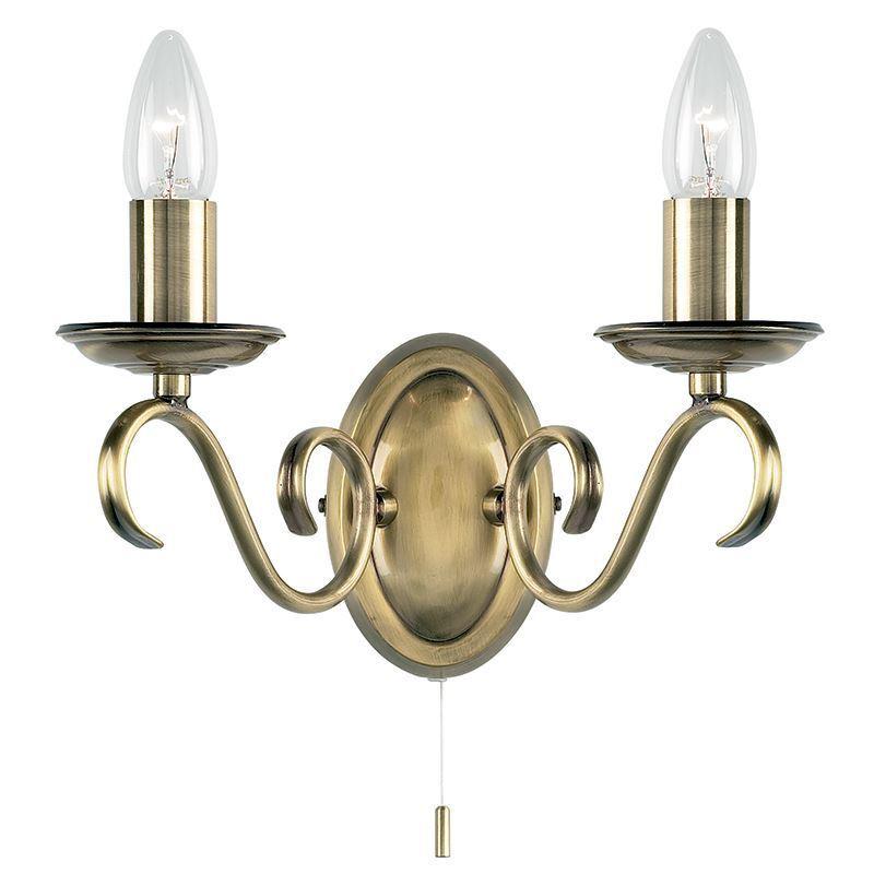 forniamo il meglio Endon Lighting Bernice Bernice Bernice Muro 2lt 60 W SW-Antico B - 2030-2AN  compra nuovo economico