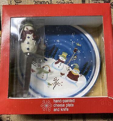 4-Piece Hand Painted Snowman Cheese Spreader