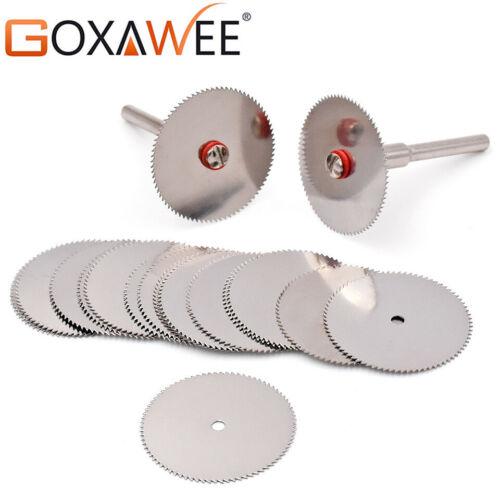 GOXAWEE 25mm Cutting Discs Rotary Tools Cutting wheel w// 2pcs Mandrels Wood DIY