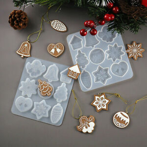 Christmas-Hanging-Tag-Silicone-Jewelry-Mold-Resin-Epoxy-Mould-Casting-Craft-Tool