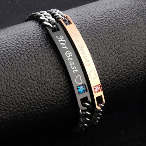Her King His Queen Bracelets Valentine Birthday Couple Lover Gift 2020