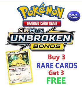 Pokemon-SM10-Unbroken-Bonds-RARE-cards-BUY-3-CARDS-GET-3-FREE-MINT