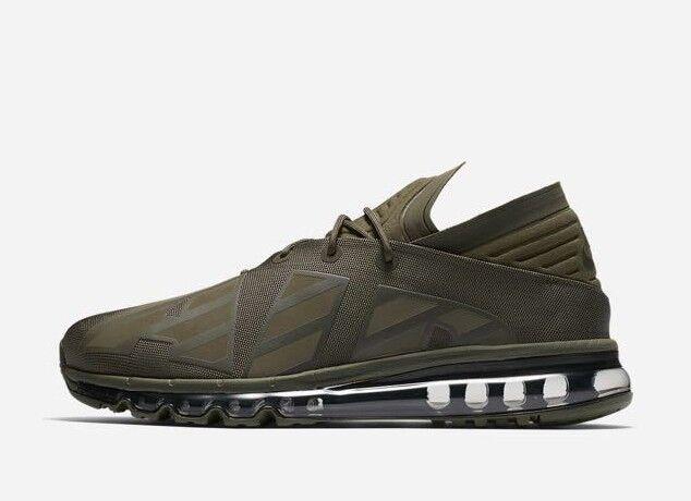 Nike Men's AIR MAX FLAIR SE Shoes Cargo Khaki/Sequoia AA4084-300 b