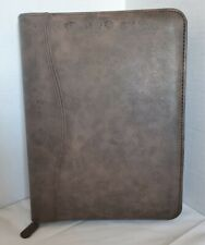 Day Timer Brown Leather 7 Ring Zippered Planner Notebook Organizer 8 X 105