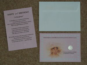 Details about DAUGHTER 21st BIRTHDAY PRESENT/GIFT LUCKY SIXPENCE & POEM  IDEAL KEEPSAKE