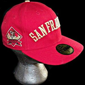 competitive price cebff 7561d Image is loading San-Francisco-Giants-New-Era-59Fifty-Red-Golden-