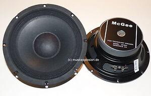 """1 Paar  McGee 20cm 8"""" PA-Subwoofer Bass Lautsprecher Tieftöner 200mm TOP"""