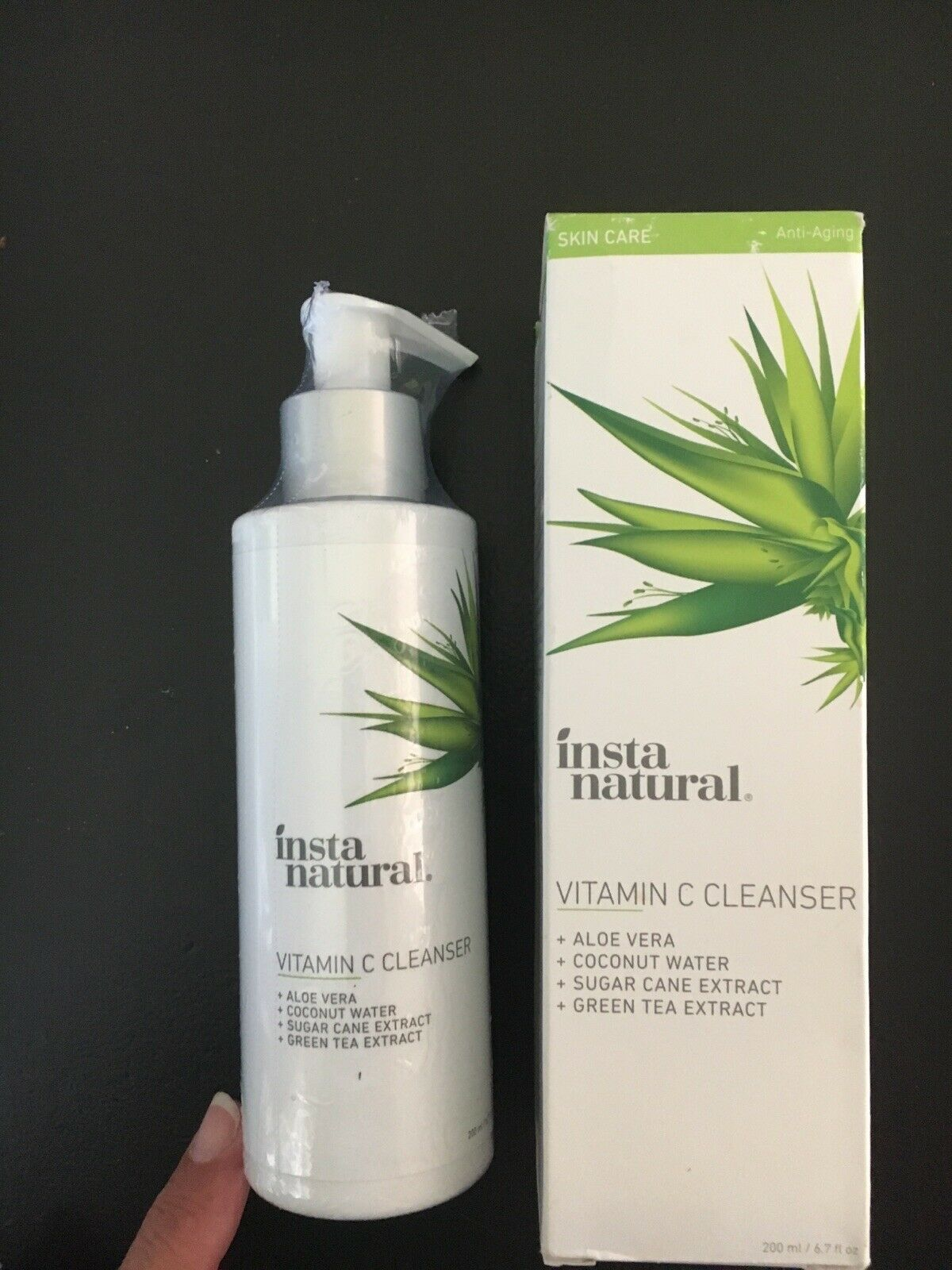 Insta Natural Vitamin C Cleanser Aloe,Coconut Water & More, SHIPS FREE, Sealed 2
