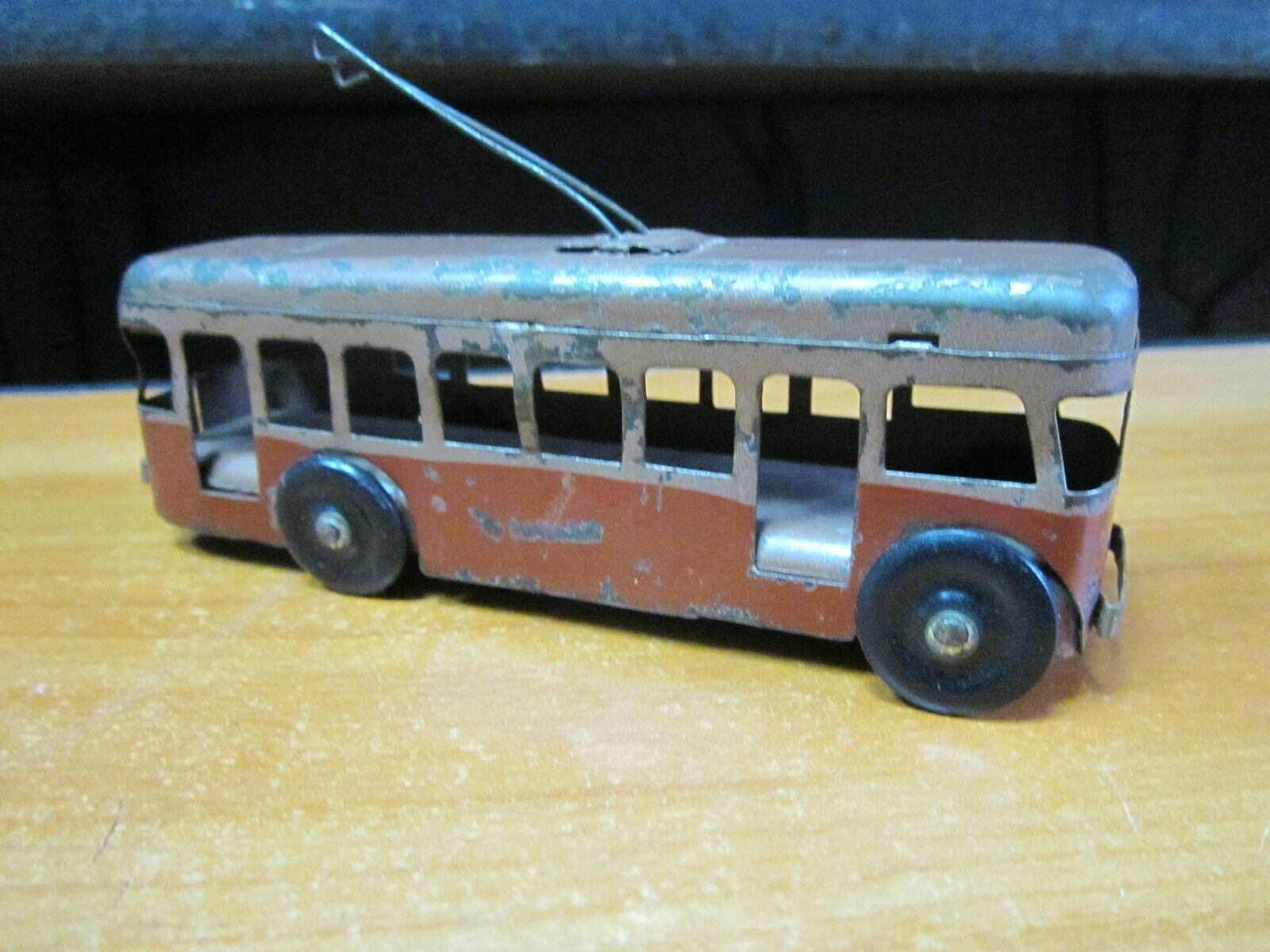 Collectible Vintage Soviet toy trolleybus USSR Retro Scale Model Model Model Antiques 8daea5