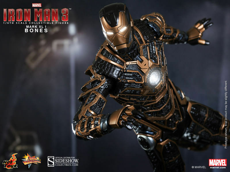 IRON MAN 3IRON MANMARK XLI (41)BONESSIXTH SCALE FIGUREHOT TOYSMIB