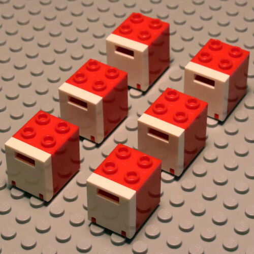 4345 4346 4261628 434601 NEW Lego 6x Bright Red Letter Box Mailbox White Front
