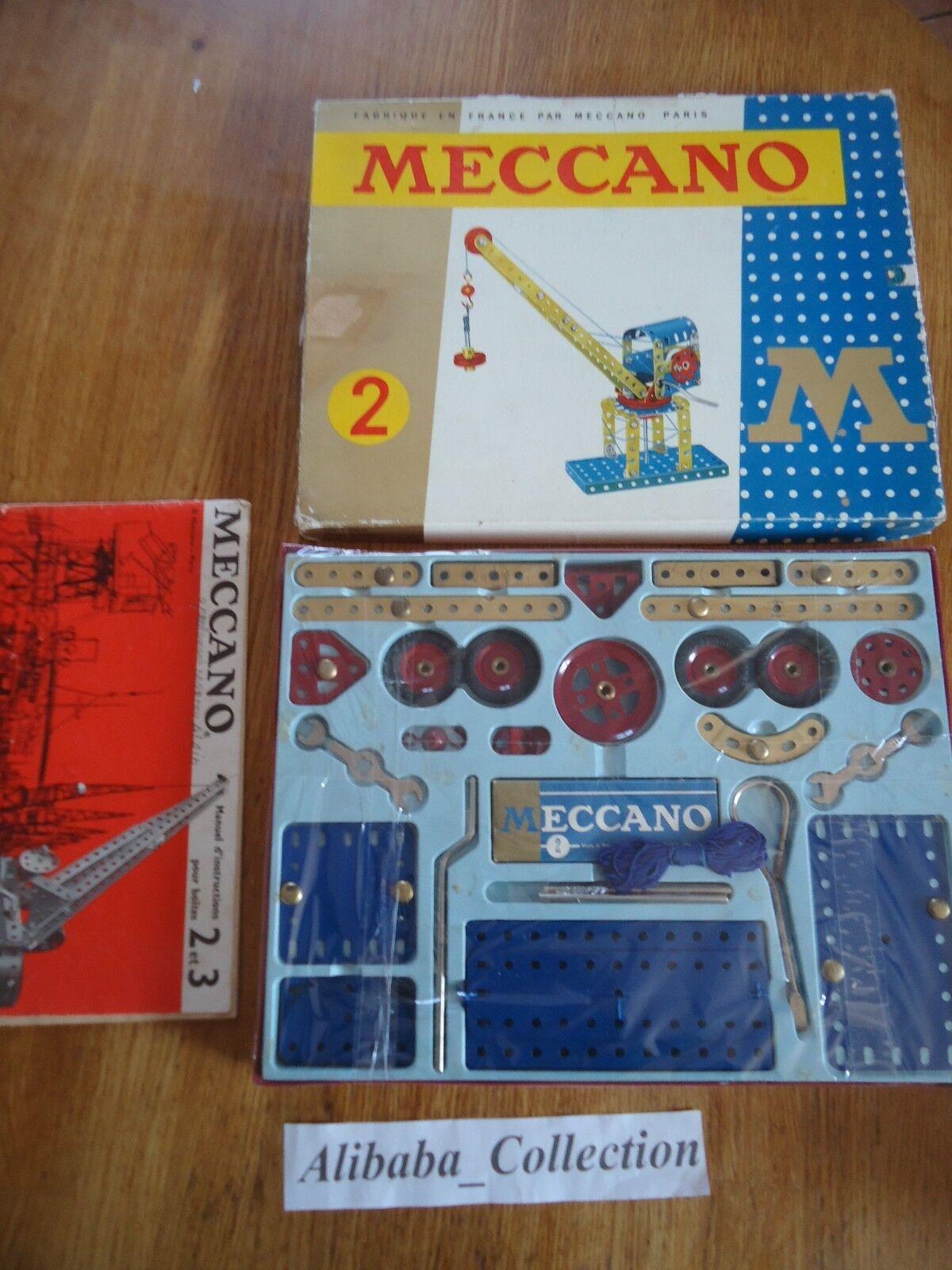 MECCANO ANCIEN BOITE 2 série M 202 années 1960, premiere no lot