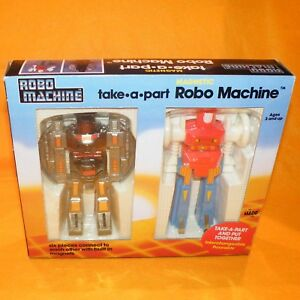 Vintage Bandai Gobots Robo Machines Set de robot magnétique à emporter en boîte Rare