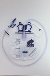 Urinbeutel-UROSID-Urindrainage-2-Liter-90-cm-Schlauch-steril-Beutel-Urin-Ablass