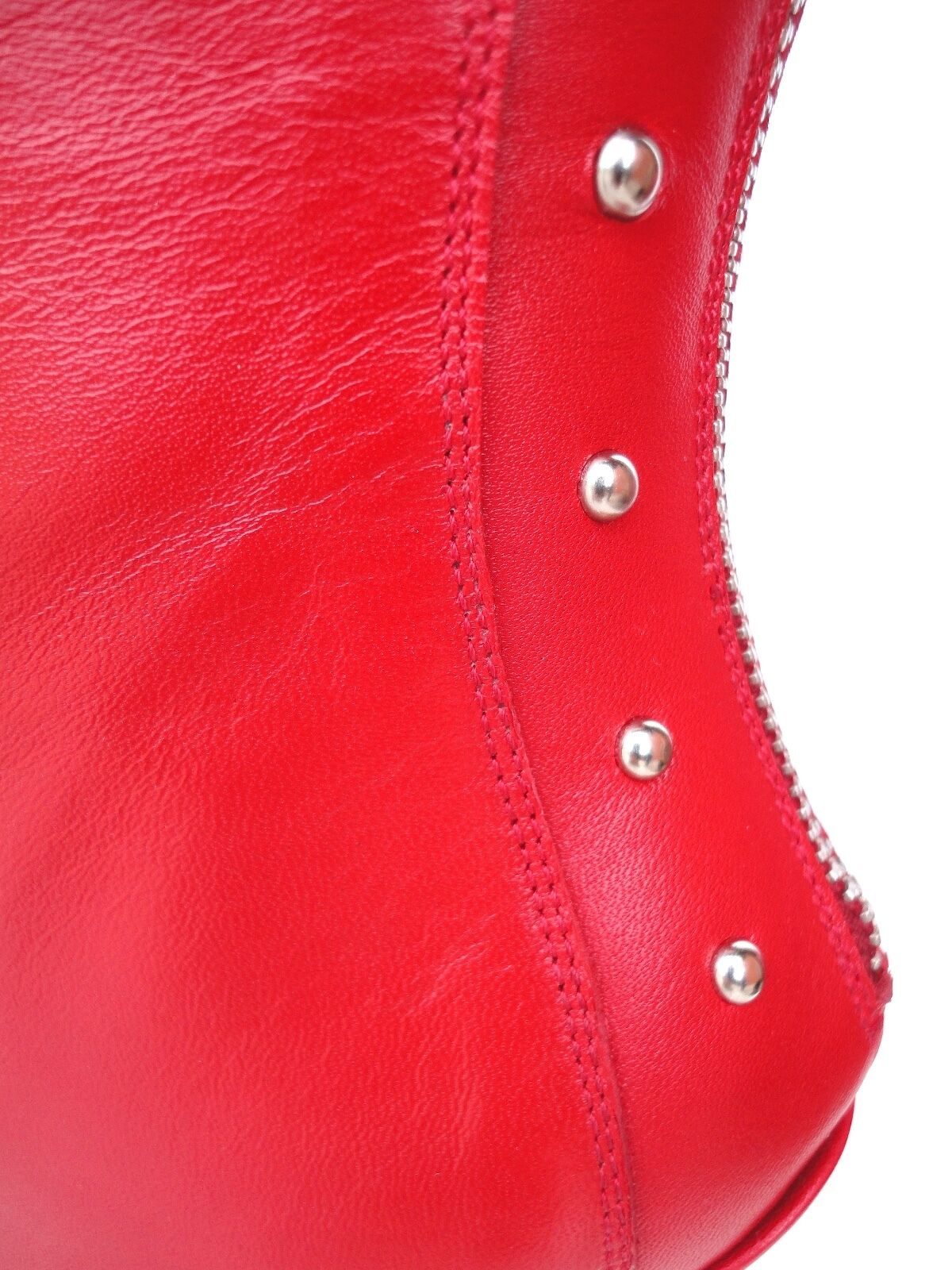CQ COUTURE OVERKNEE EXTREME HEEL BOOTS STIEFEL LEATHER REIßVERSCHLUSS red red red 37 3b26a5