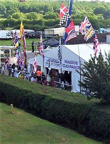 Mât de 6 mètres télescopique drapeau Windsock Grand Prix Tente Camping Caravanes Festival