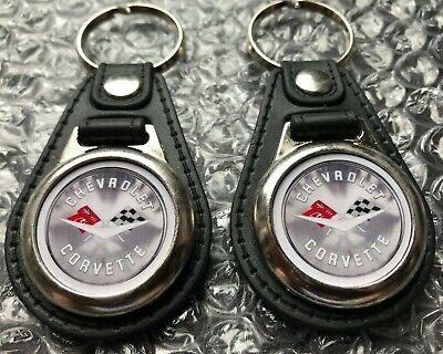 Black keychain set for Corvette 2 piece
