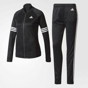 a40e1b53fe7 Neuf FEMME ADIDAS BS2621 Confortable Survêtement Noir Blanc Veste ...