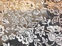 "NEW Designer Ivory/black Stretch Floral Lace Fabric 63""160cm Rachael Dress Trim"