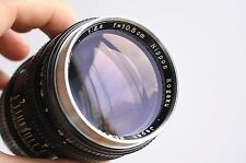 NIKON Nikkor-P.C 10.5cm f/2.5 Leica LTM Screw Mount   w/ M mount adapter , 105mm