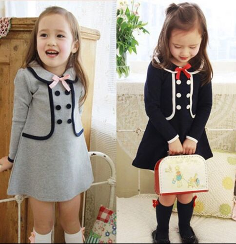 BRAND NEW Girls Dress Outfit With Buttons Age 3 4 5 6