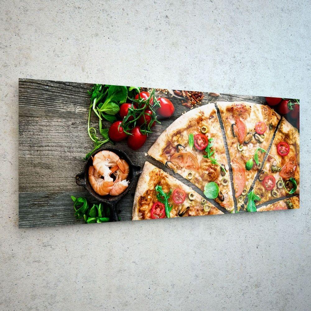 Wall Art Glass Print Print Print Canvas Picture Large Kitchen Food Pizza 45365936 125x50cm 8bd6ec