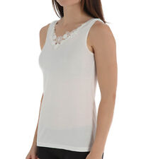 CUDDL DUDS Softech Venice Applique Ivory Camisole Size Small