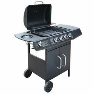 vidaXL-Gasbarbecue-Grill-4-1-Branders-Zwart-BBQ-Barbeque-Barbecue-Gas-Brander