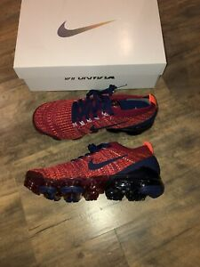 New-Nike-Air-VaporMax-Flyknit-3-Noble-Red-Size-8-AJ6900-600-Men-s-Running-Shoes