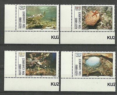 Europa TÜrkisch-zypern/ Fische-tiere Mi.nr 556/59 **
