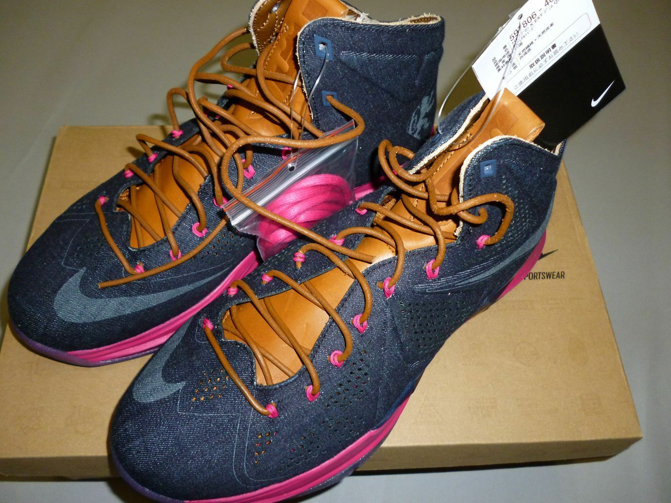 6531 nike - lebron x ext denim - nike us10.5 be887c