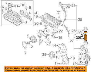 09 jetta engine diagram vw volkswagen oem 09 15 jetta engine oil filter 071115562c ebay  vw volkswagen oem 09 15 jetta engine
