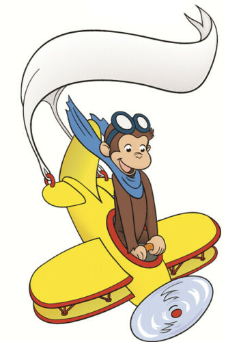 8 inch Curious George Wall Decal Monkey Airplane Removable Vinyl Sticker Decor
