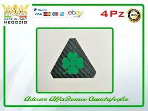 alfa romeo 4 triangoli QUADRIFOGLIO verde ADESIVO mito 147 giulietta 159 giulia
