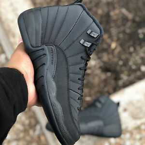 arrives 6f34b 61857 Details about Nike Air Jordan 12 Retro WNTR Winterized XII Black Men /  Women GS Kids Pick 1