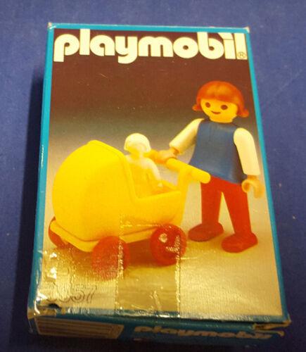 PLAYMOBIL 3357 Mädchen Kind mit Puppenwagen mit OVP